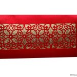 Signature Laser Cut Satin Shagun Envelope in Classic Red
