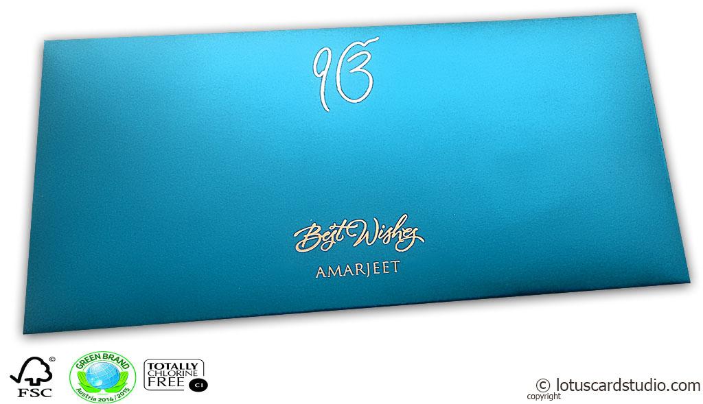 Signature Premium Azure Blue Envelope