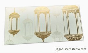 Wedding Envelopes with Golden Chandelier for Money Gift