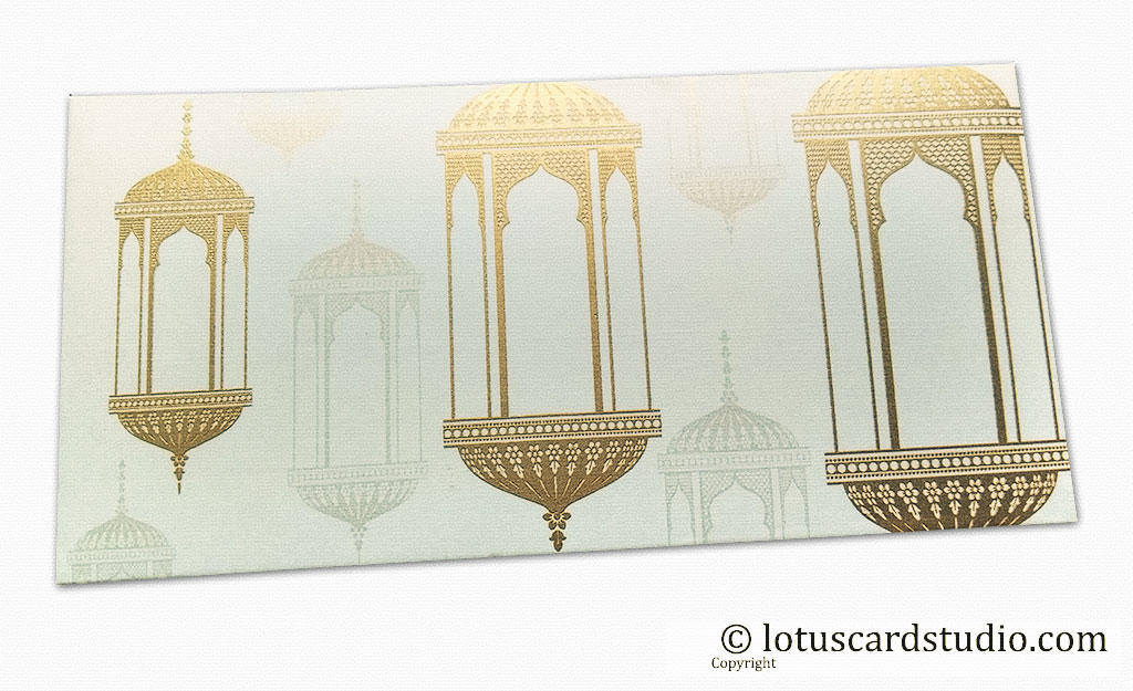 Wedding Envelopes with Golden Chandelier for Money Gift