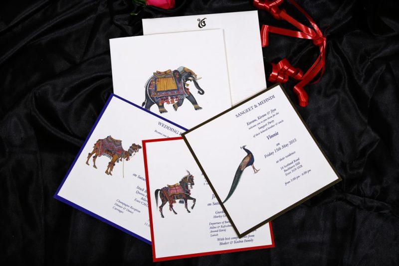 Inserts of Animal Theme Wedding Invitation