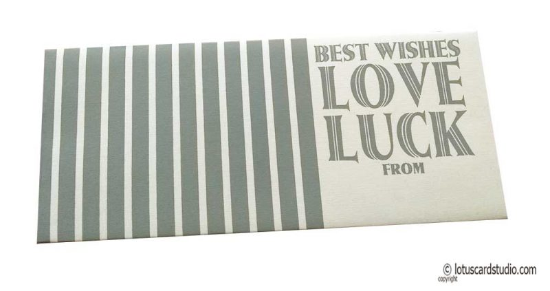 Ivory Gift Envelope with Silver Best Wishes