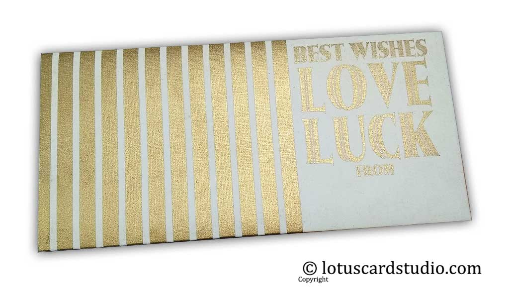 Ivory Gift Envelope with Golden Best Wishes