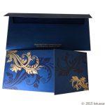 Envelope back of Dazzling Blue Wedding Invitation Card