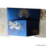 Dazzling Blue Wedding Invitation Card