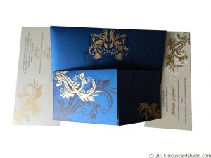 Dazzling Blue Wedding Invitation Card