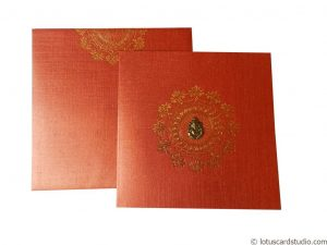 Classic Red Indian Wedding Invitation Card