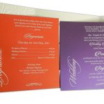 Inserts of Embossed Floral Wedding Invitation