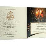 Card inside of Golden Crown Design Wedding Card Invitation