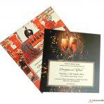 Inserts of Golden Crown Design Wedding Card Invitation