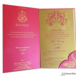 Card inside - Golden Swirl Floral Marriage Invitation Paradise Pink