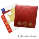 Laser Cut Indian Wedding Invitation in Red and Golden Theme