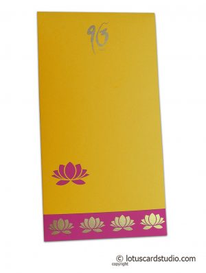 Lotus Theme Money Envelope in Yellow
