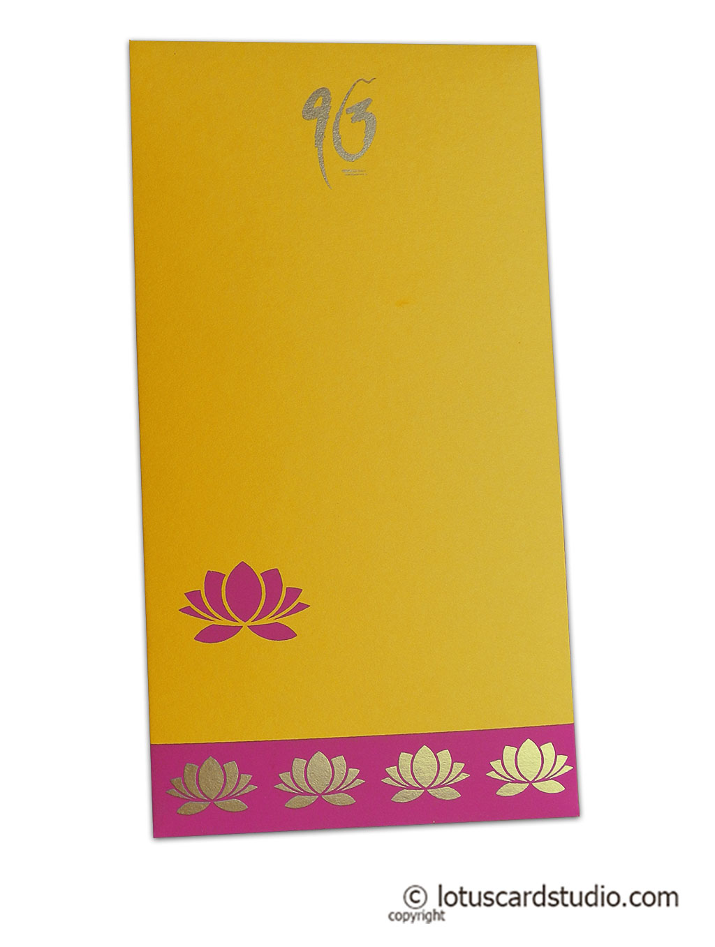 Lotus Theme Money Envelope in Yellow