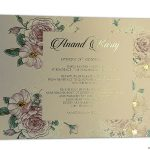 Insert1 of Fantasy Pink Rose Wedding Invitation Card with Hot Foil Stamped