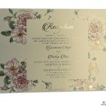 Insert2 of Fantasy Pink Rose Wedding Invitation Card with Hot Foil Stamped