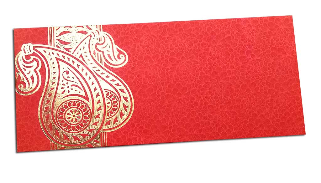 Double Paisley Red Money Envelope