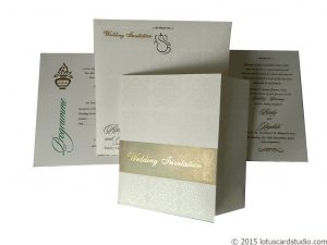 Royal White Golden Wedding Invitation