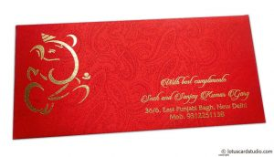 Shagun Envelope in Classic Red Satin Fabric