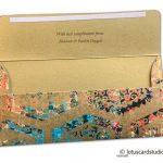 Opened view of Modern Digital Printed Signature Shagun Gift Envelope