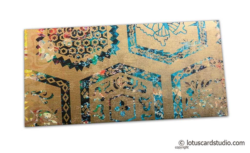 Modern Digital Printed Signature Shagun Gift Envelope