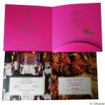 Card inside of Dazzling Wedding Card in Mexican Pink Theme