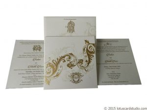 Designer White and Golden Design Card