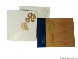 Classic White Wedding Card