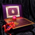 Insert2 of Box Wedding Card in Super Indigo with Golden Mirror Frame