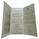 Card inside of Dazzling Laser Cut Wedding Invite
