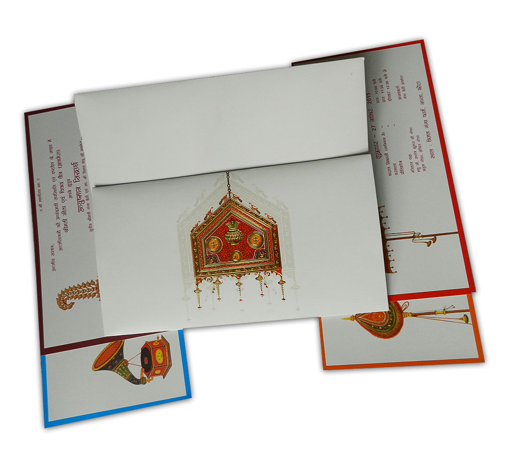 Designer Palanquin Invitation Card