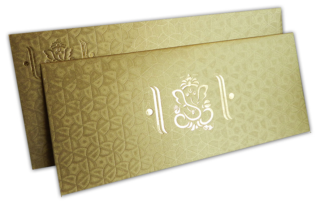 Florescent Golden Wedding Invitation Card