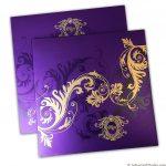 Florescent Purple Invitation
