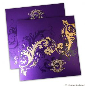 Florescent Purple Invitation
