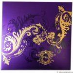 Card front of Florescent Purple Invitation
