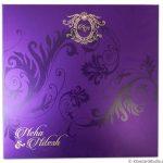 Envelope of Florescent Purple Invitation