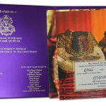 Card inside with inserts - Florescent Purple Invitation