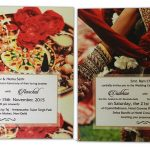 Inserts of Golden Brown Metallic Wedding Card
