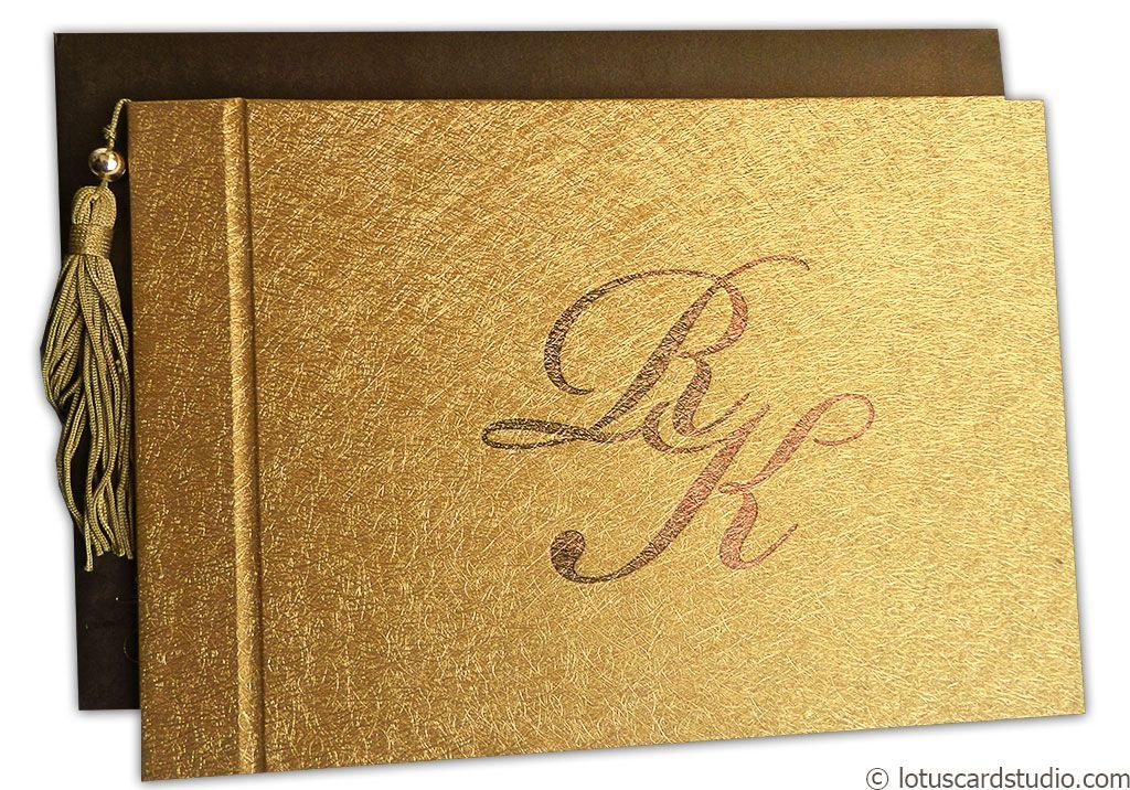 Luxurious Golden Brown Wedding Invite