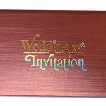 Card front of Metallic Brick Texture Invitation