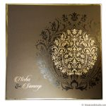 Card of Metallic Crown Wedding Invitation Card