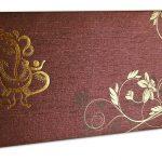 Card of Reddish Brown Ganesh Indian Wedding Invitation