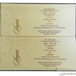 Inserts of Velvet Brown Boxed Wedding Invitation