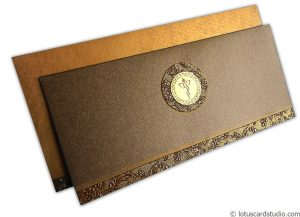 Wedding Card in Ironic Golden Brown