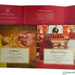 Inserts of Wedding card with Box Pink Golden Theme