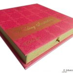 Wedding card with Box Pink Golden Theme
