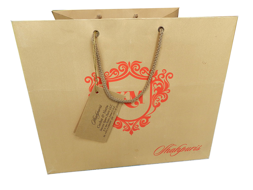 Front view of Pure Golden Shimmer Finish Gift Bag