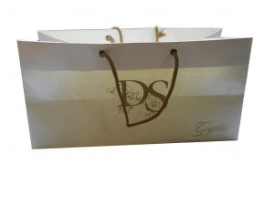 Front view of Pearl Finish Ivory Gift Bag