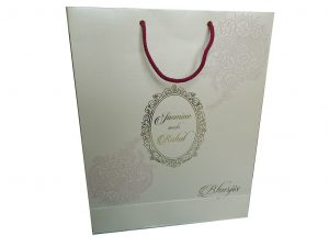 Gift Bag in Shimmer Finish Ivory