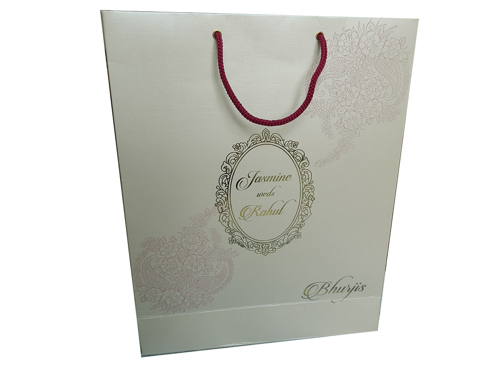 Gift Bag in Shimmer Finish Ivory